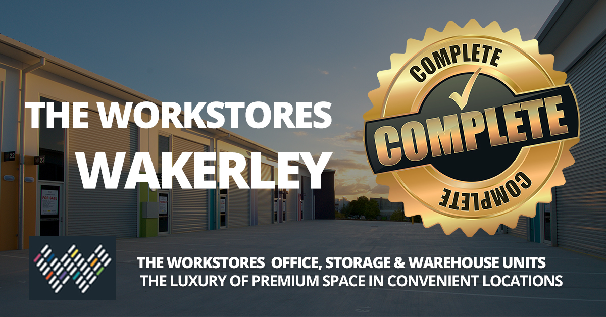 The Workstores Wakerley now complete - Storage Shed Units For Sale - A Great Commercial Real Estate Investment