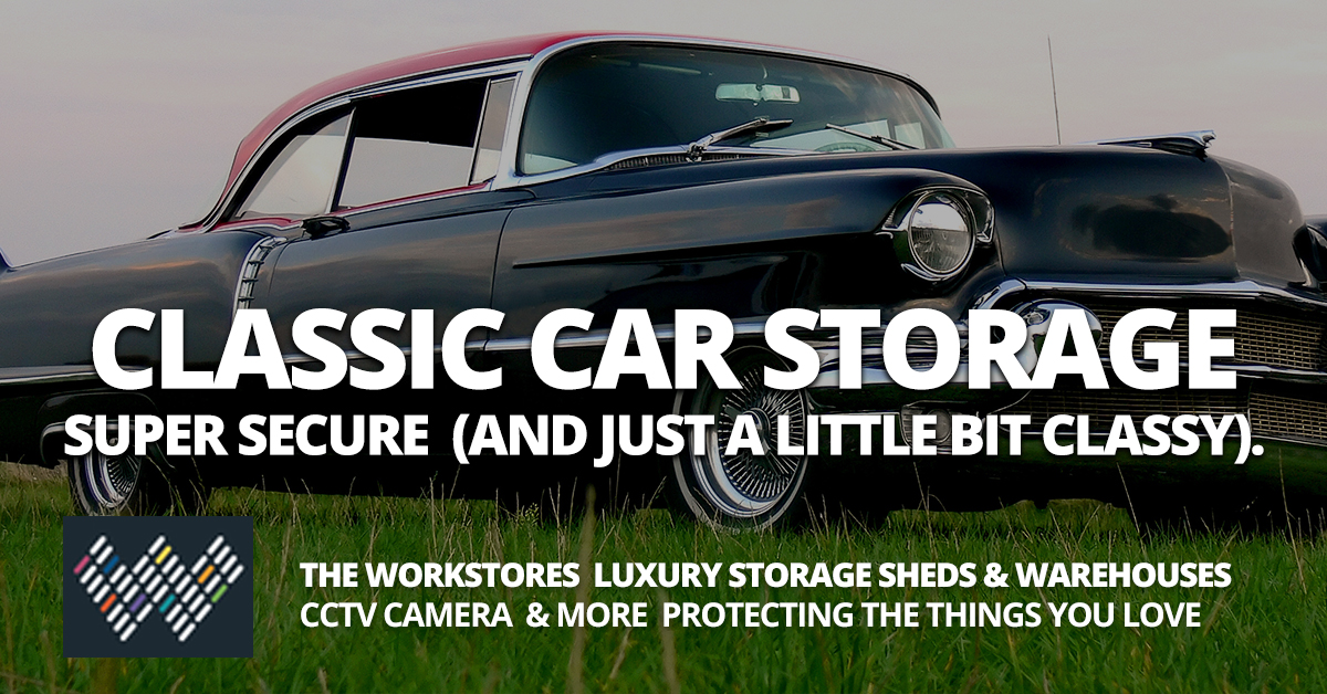 Classic Car Storage in Brisbane, The Workstores Storage Sheds